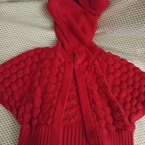 Genuine Kids by Oshkosh Red Crochet Sweater